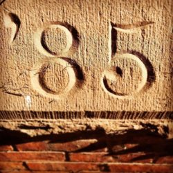 Great type find by @chloe_pug_chicago ???  ?, 1885 that is. #foundtype #signage #typography #incised